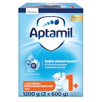 Lapte praf Aptamil Junior 1+, 1200 g, 12-24 luni