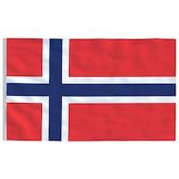 vidaXL norvég zászló 90 x 150 cm