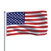 vidaXL amerikai zászló alumíniumrúddal 6 m