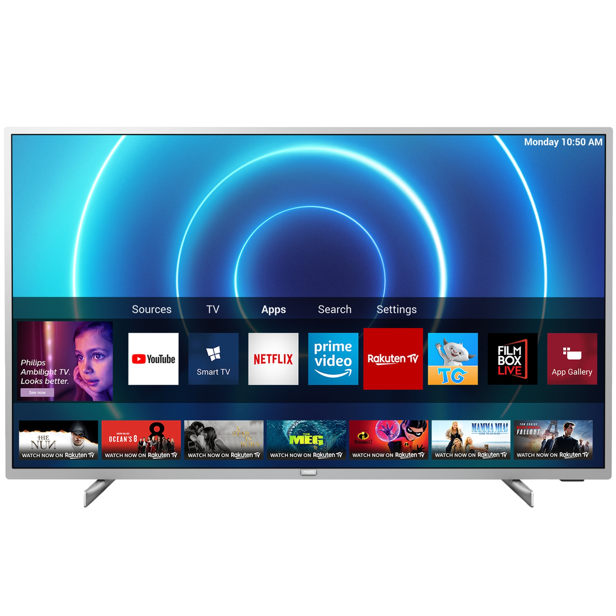 Fotografie Televizor Philips 50PUS7555/12, 126 cm, Smart, 4K Ultra HD, LED