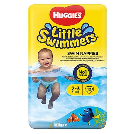 Гащички за плуване Huggies Little Swimmers, 2-3, 3-8 кг, 12 броя
