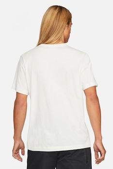 Nike, Tricou cu logo brodat Club, Crem