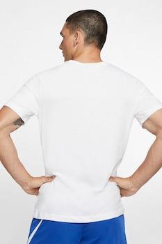 Nike, Dri Fit kerek nyakú sportpóló, Fehér