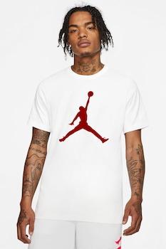 Nike, Jumpman kerek nyakú mintás póló, Fehér/Sötétpiros