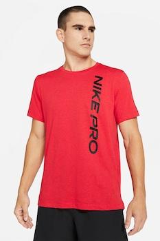 Nike, Dri Fit logómintás sportpóló, Piros