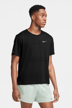 Nike, Miler Dri-FIT futópóló fényvisszaverő részlettel, Fekete