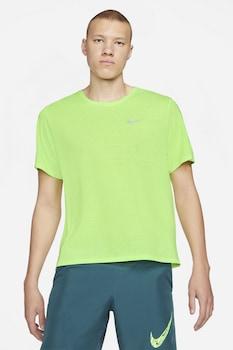 Nike, Miler Dri-FIT futópóló fényvisszaverő részlettel, Limezöld