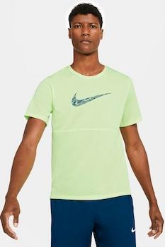 Nike, Breathe Dri-Fit sportpóló logóval, Limezöld
