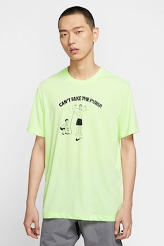 Nike, DB Cant Fake It mintás sportpóló, Limezöld