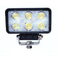 Kamar LED-es projektor fémből négyszögletes 18W 12/24V