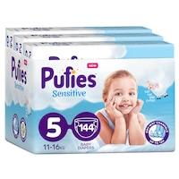 Pufies Sensitive Pelenka, 5 Junior, Monthly Box, 11-16 kg, 144 db