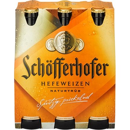 Bere Blonda Nefiltrata Schöfferhofer Hefeweizen, 5%, Sticla, 6 x 0.5l