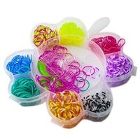 Kreatív készlet kiegészítőkkel rugalmas karkötők készítéséhez, 360 darab, virág alakú, többszínű, Robentoys®