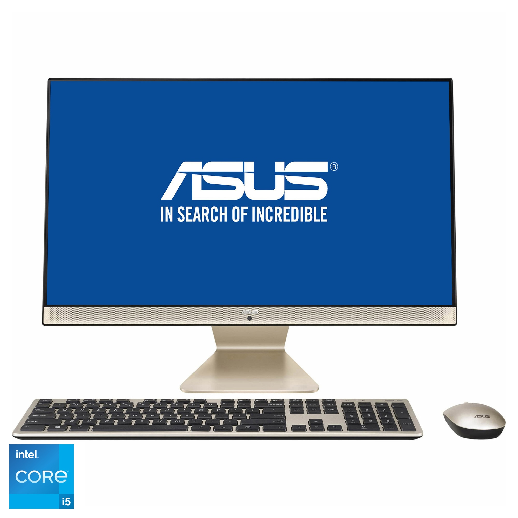 "Fotografie Sistem All-In-One ASUS V241EAK cu procesor Intel® Core™ i5-1135G7 pana la 4.20GHz, Tiger Lake, 23.8"", Full HD, IPS, 8GB DDR4, 512GB SSD, Intel® Iris® Xe Graphics, Endless OS"