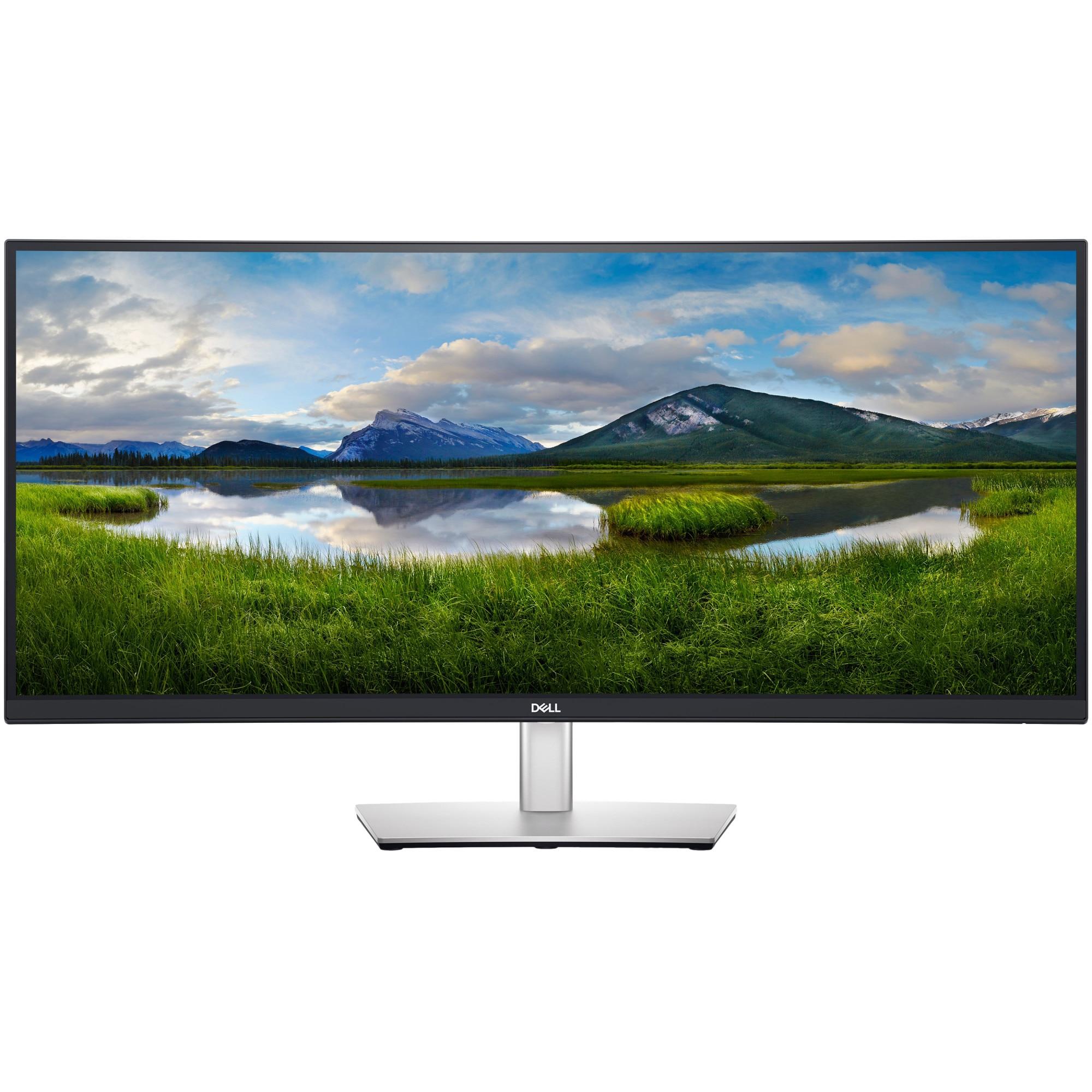 Fotografie Monitor Curbat WLED DELL 34'' WQHD, USB-C, Display Port, HDMI, Pivot, P3421W