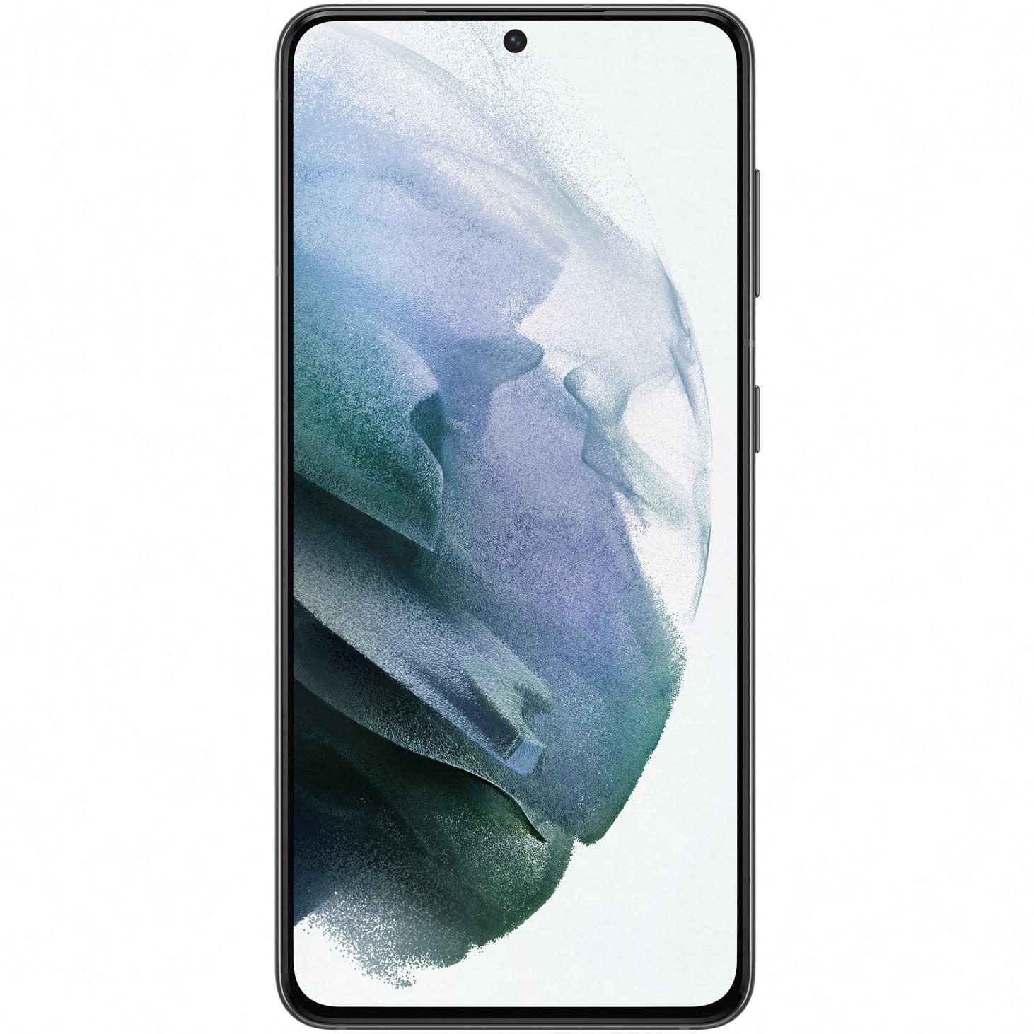 Fotografie Telefon mobil Samsung Galaxy S21, Dual SIM, 256GB, 8GB RAM, 5G, Phantom Grey
