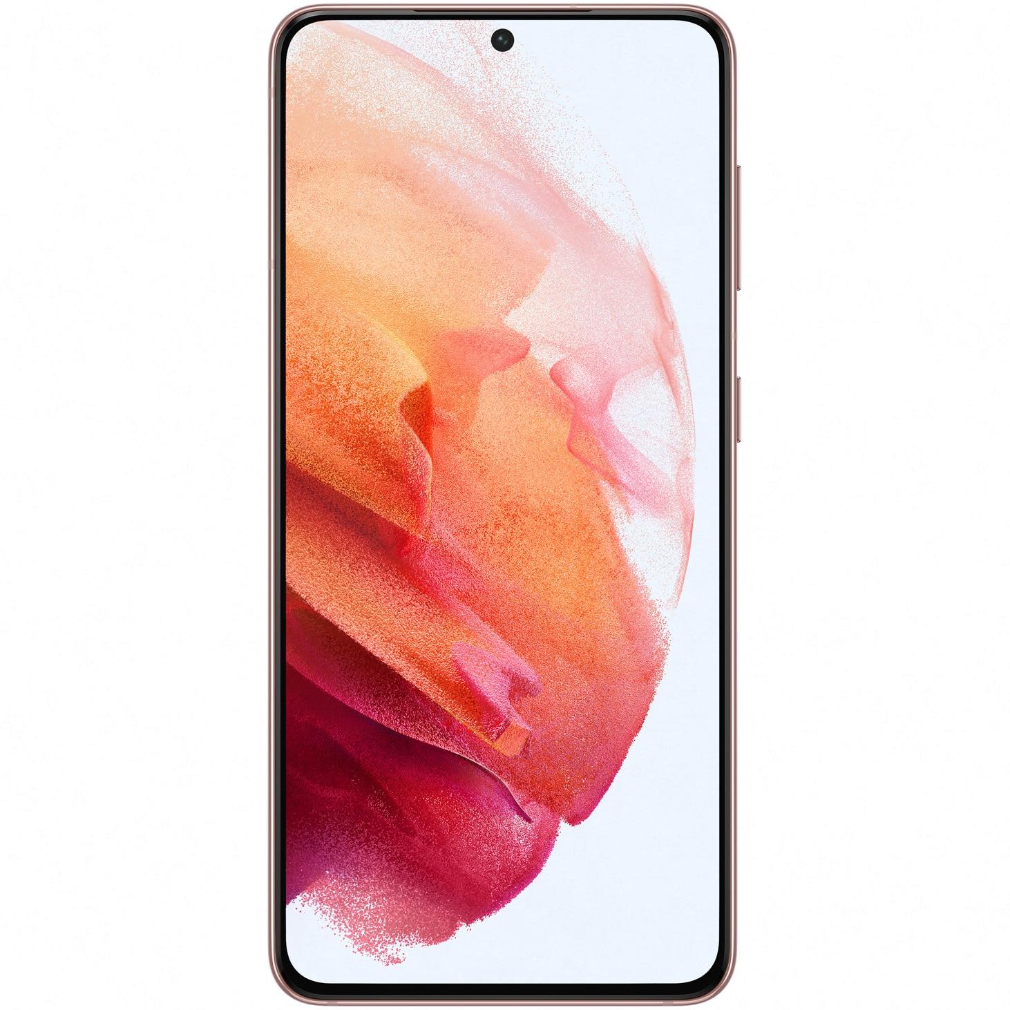 Fotografie Telefon mobil Samsung Galaxy S21, Dual SIM, 256GB, 8GB RAM, 5G, Phantom Pink