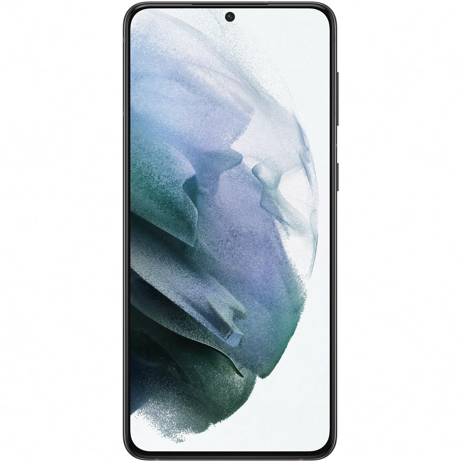 Fotografie Telefon mobil Samsung Galaxy S21 Plus, Dual SIM, 128GB, 8GB RAM, 5G, Phantom Black