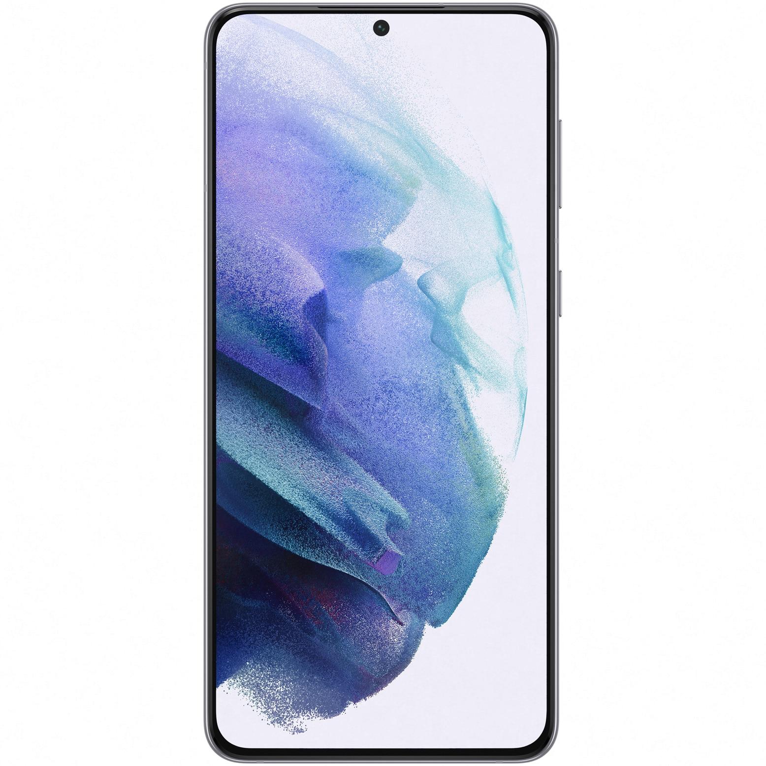 Fotografie Telefon mobil Samsung Galaxy S21 Plus, Dual SIM, 256GB, 8GB RAM, 5G, Phantom Silver