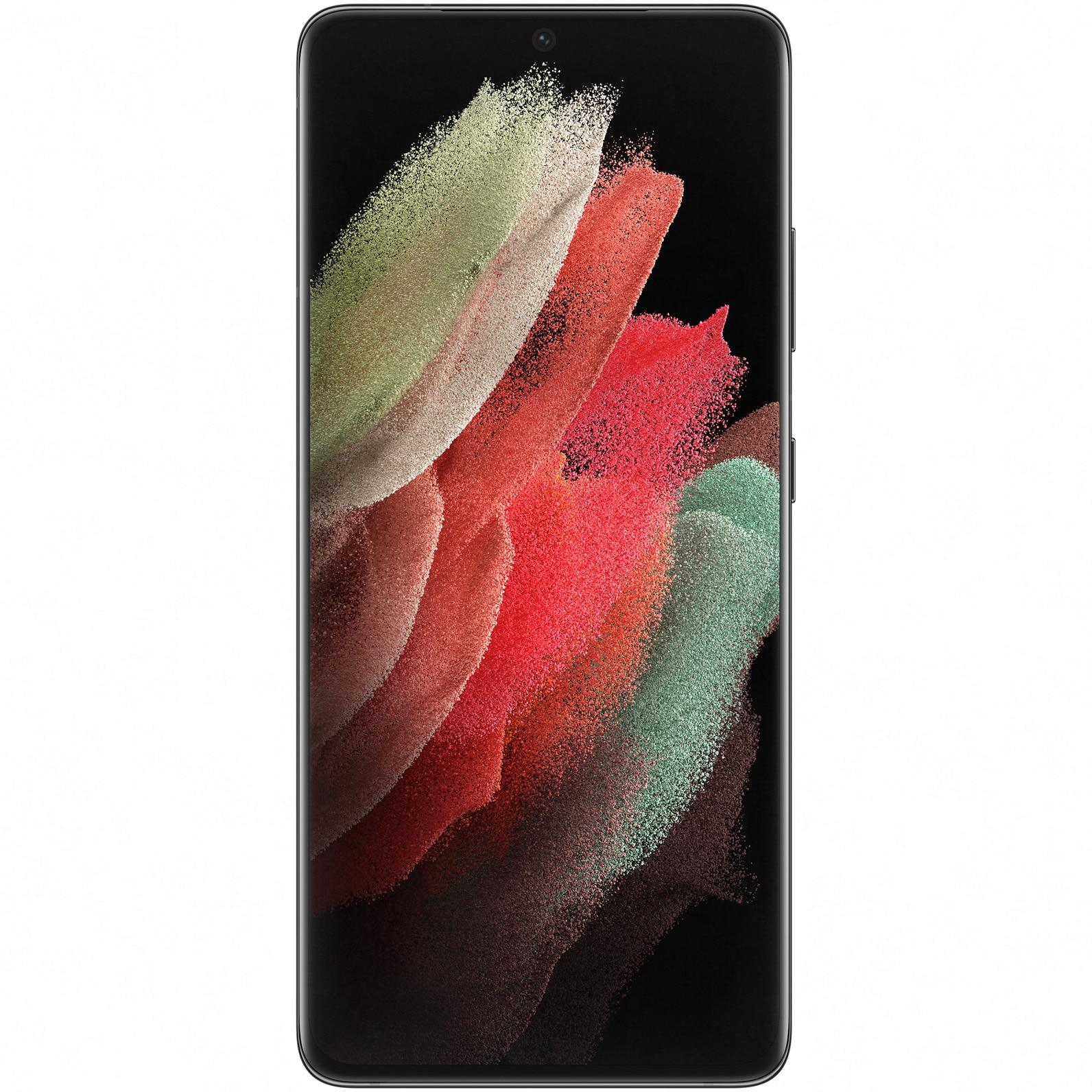 Fotografie Telefon mobil Samsung Galaxy S21 Ultra, Dual SIM, 512GB, 16GB RAM, 5G, Phantom Black