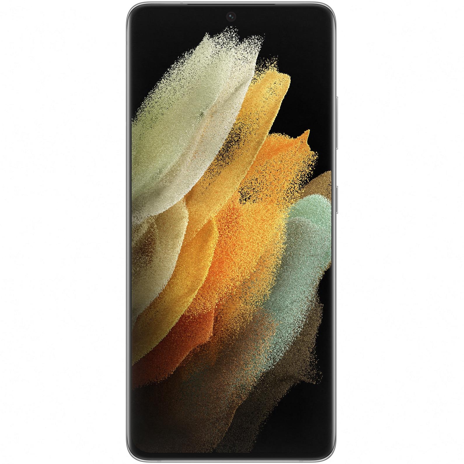 Fotografie Telefon mobil Samsung Galaxy S21 Ultra, Dual SIM, 512GB, 16GB RAM, 5G, Phantom Silver