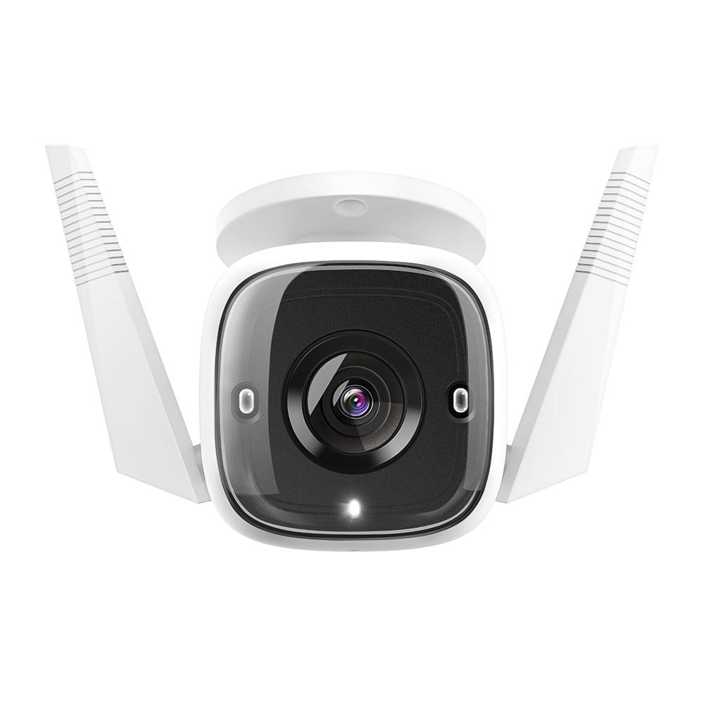 Fotografie Camera supraveghere pentru exterior smart, TP-Link Tapo C310,conexiune Wi-Fi sau prin cablu, Night Vision, Detecteaza miscari si trimite notificari, Alarma sonora si luminoasa, Functie Two-Way Audio, Control Vocal, 3MP
