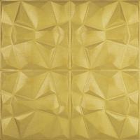3D öntapadó tapéta, modern kivitelben, vízálló, könnyen tisztítható, méretei 70x70cm, dombornyomott gyémántmintázat, arany Selling Depot