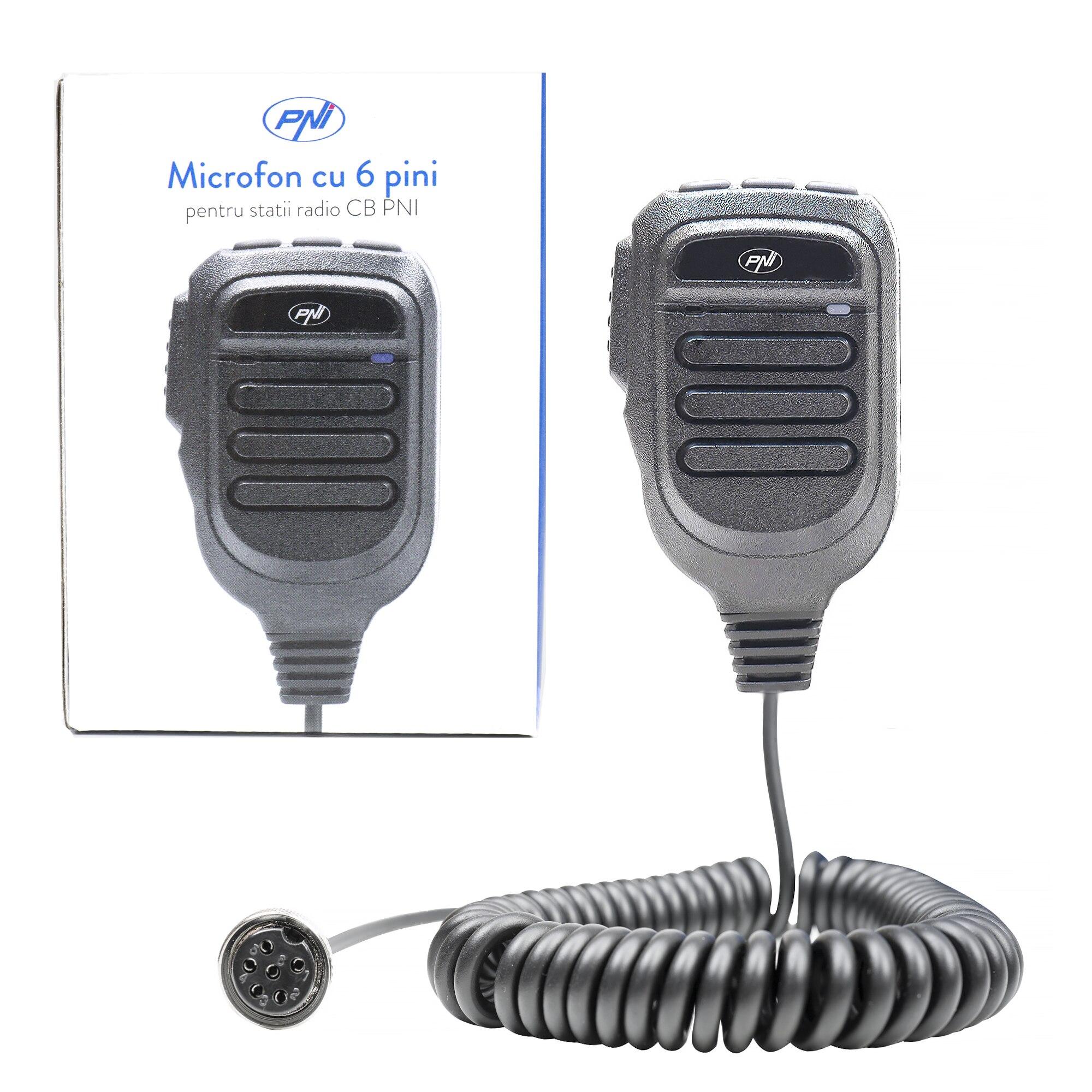 Fotografie Microfon de schimb pentru statie radio CB PNI Escort HP 9500, HP 8900, HP 8000L cu 6 pini