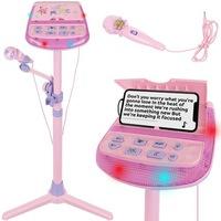 Karaoke szett, Mikrofon állvánnyal, Hang-és fényhatásokkal, telefontartóval