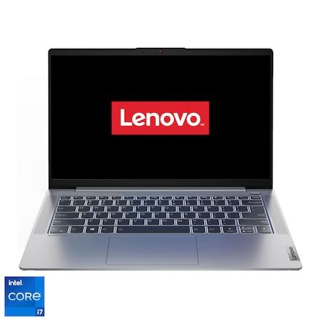 "Laptop ultraportabil Lenovo IdeaPad 5 14ITL05 cu procesor Intel Core i7-1165G7 pana la 4.70 GHz, 14"", Full HD, 16GB, 512GB SSD, Intel Iris Xe Graphics, Free DOS, Platinum Grey"