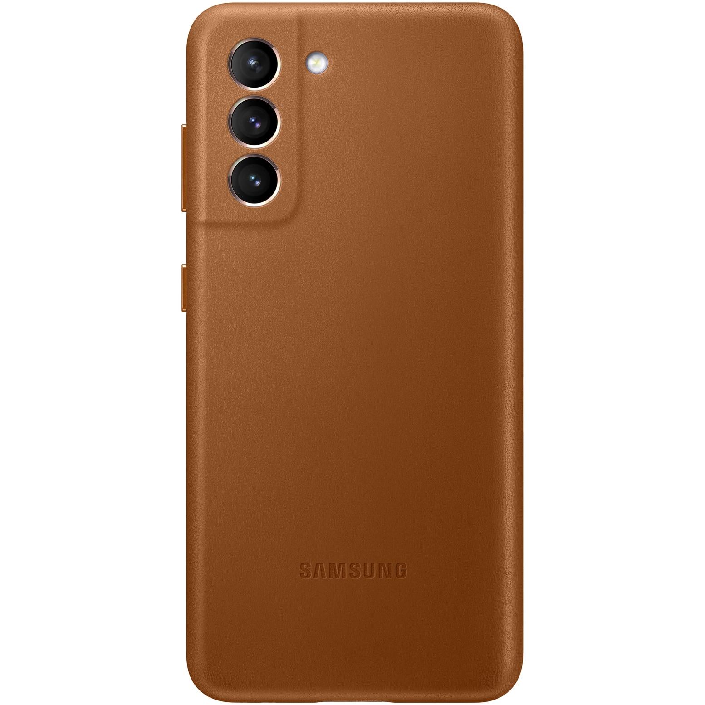 Fotografie Husa de protectie Samsung Leather Cover pentru Galaxy S21, Brown