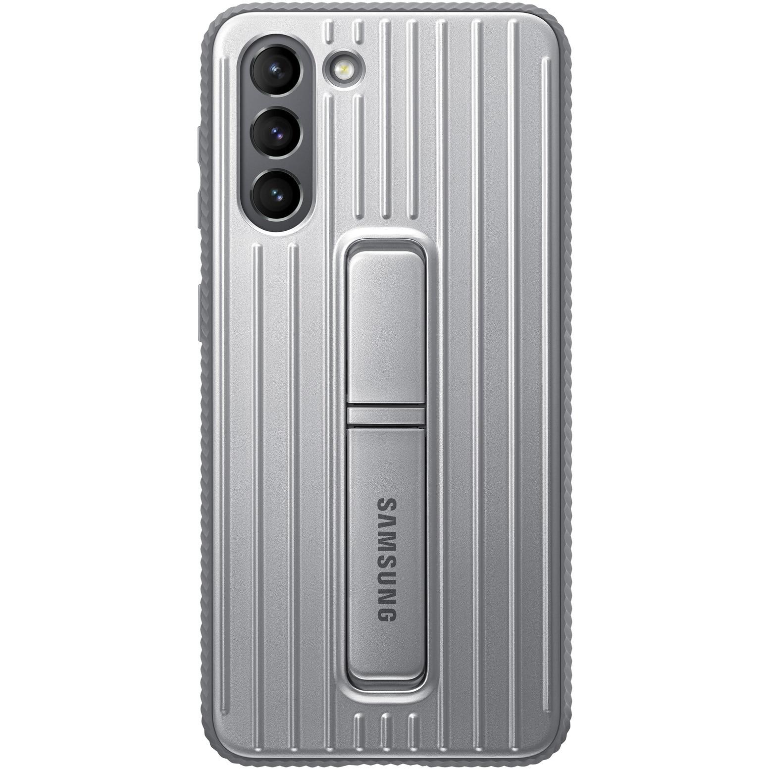 Fotografie Husa de protectie Samsung Protective Standing Cover pentru Galaxy S21, Light Gray