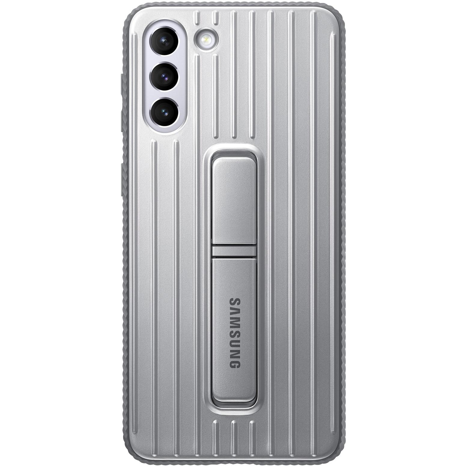 Fotografie Husa de protectie Samsung Protective Standing Cover pentru Galaxy S21 Plus, Light Gray