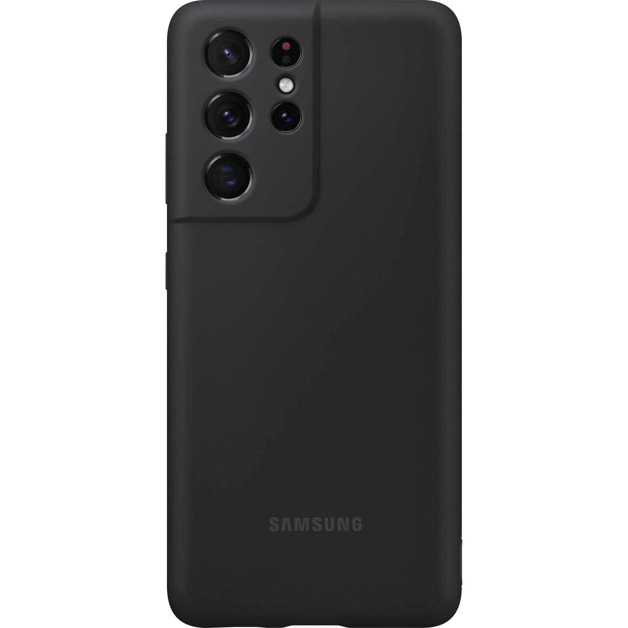 Fotografie Husa de protectie Samsung Silicone Cover pentru S21 Ultra, Black