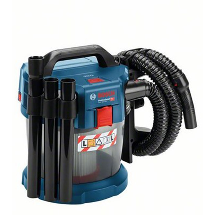 Fotografie Aspirator Bosch Professional GAS 18V-10, fara acumulatori si incarcator in setul de livrare, volum rezervor 10 l, accesorii incluse