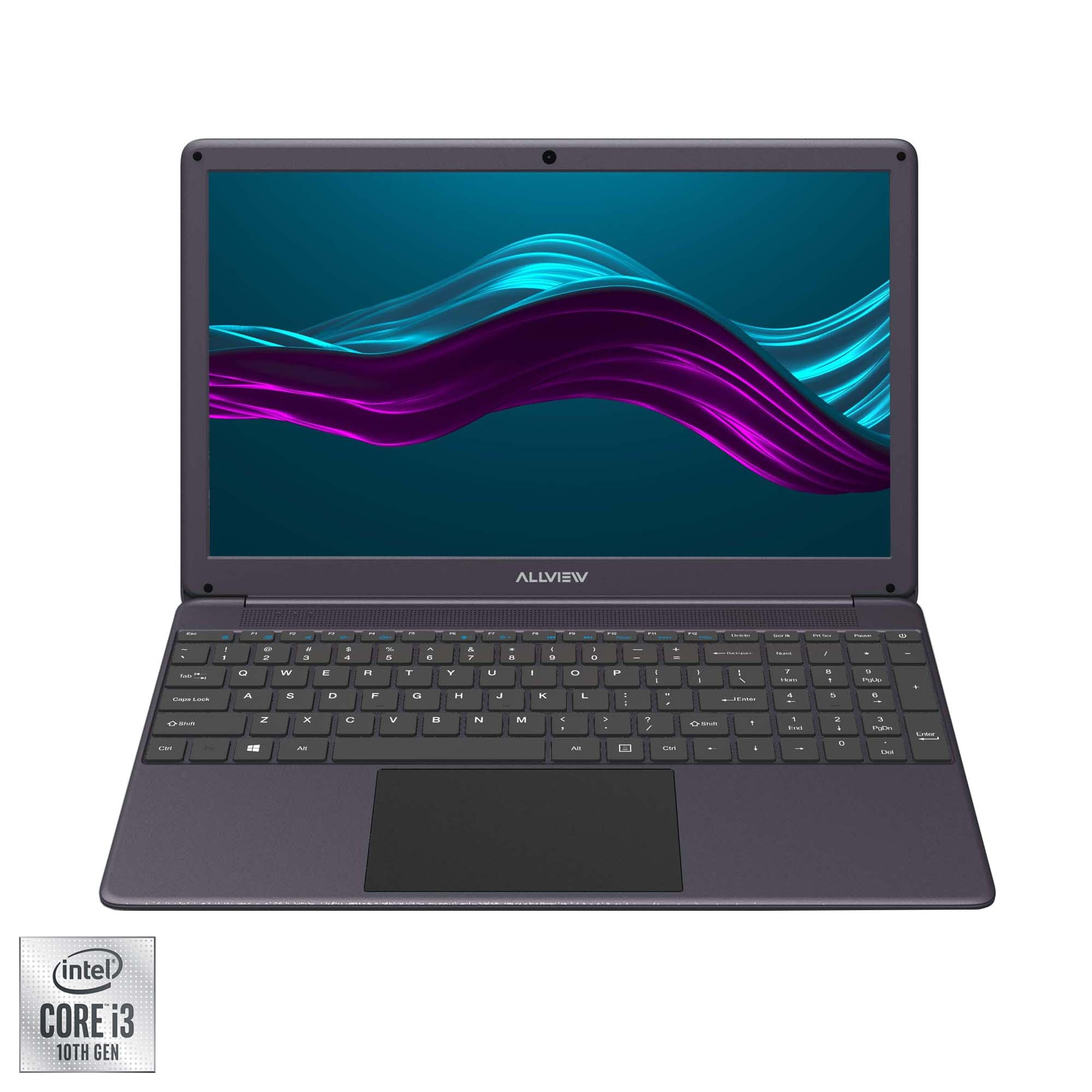 "Fotografie Laptop Allview Allbook I cu procesor Intel® Core™ i3-1005G1 pana la 3.40 GHz, 15.6"", Full HD, 8GB, 256GB SSD, Intel UHD Graphics, Free DOS, Grey"