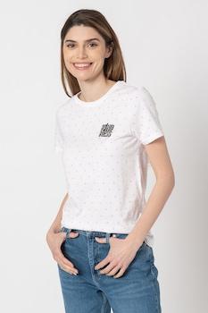 Only, Kita normál fazonú organikuspamut póló, Fehér/Rózsaszín