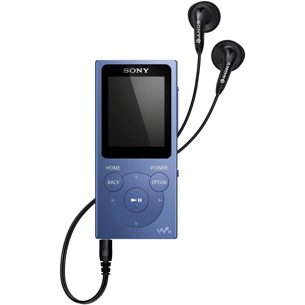 Fotografie Mp4 Player Sony NWE393L, 4GB, Albastru