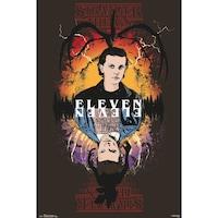 Stranger Things Eleven Poszter, 61x91.5cm, Fekete