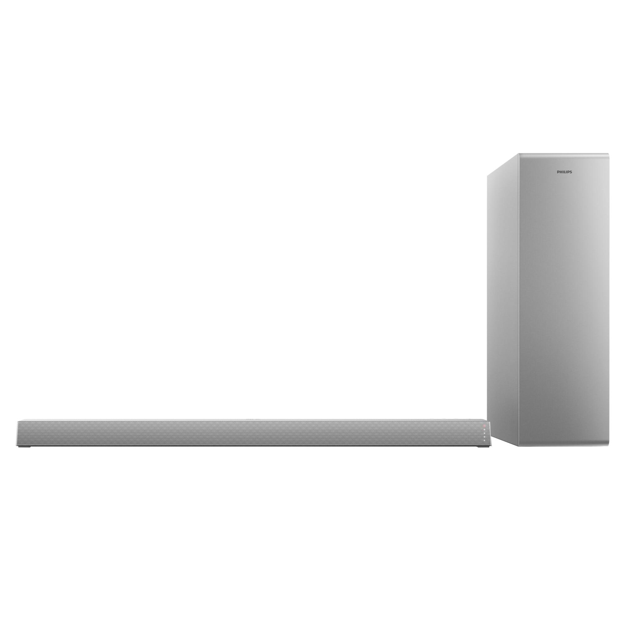 Fotografie Soundbar Philips TAB6405/10, 2.1, 140W, Subwoofer Wireless, Dolby Audio, Argintiu