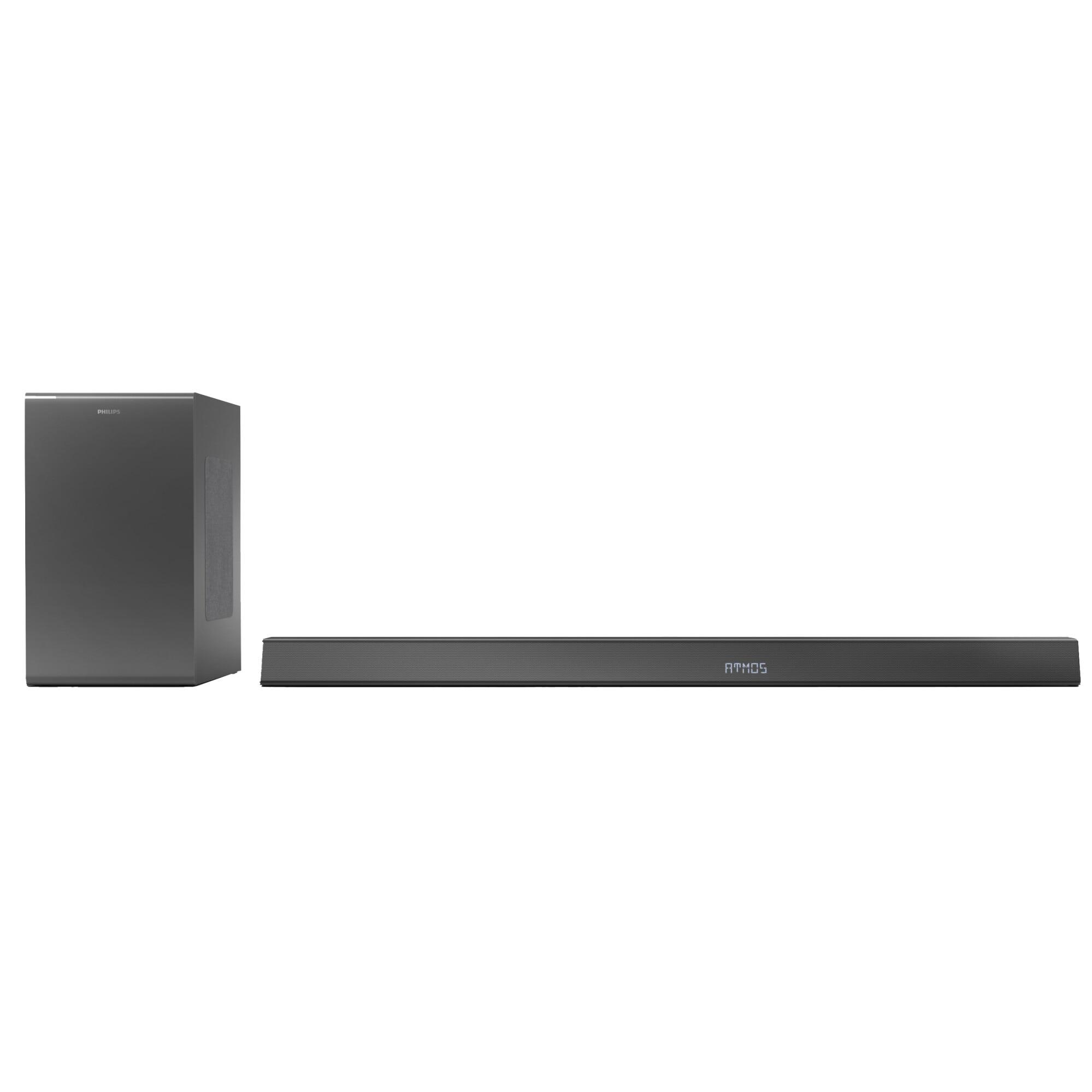 Fotografie Soundbar Philips TAB8905/10, 3.1.2, 360W, Subwoofer Wireless, Dolby Atmos, AirPlay, Negru