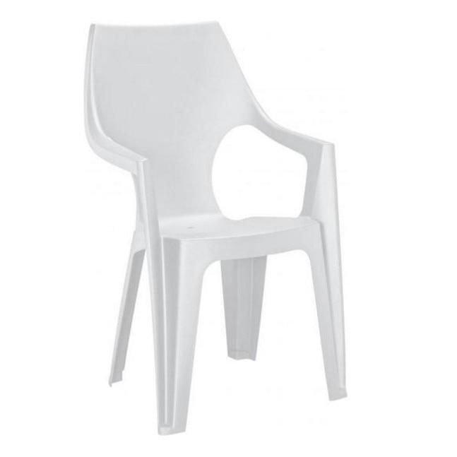 Dante magas támlás műanyag kerti szék, fehér színben eMAG.hu
