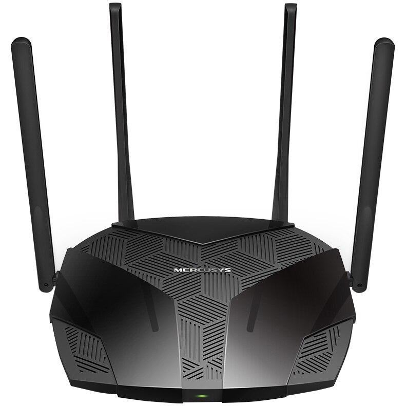 Fotografie Router Wireless Mercusys MR70X Wi-Fi 6 Dual-Band Gigabit AX1800, OFDMA, MU-MIMO, Beamforming, Control Parental, WPA3, QoS, Mod Access Point, IPv6, Suport VPN