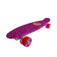 Full LED Grafitti Penny Board, Szilikon Kerekekkel, rózsaszín, Robentoys®