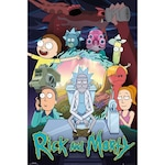 Rick & Morty Season 4 Poszter , 61x91.5cm, Fekete