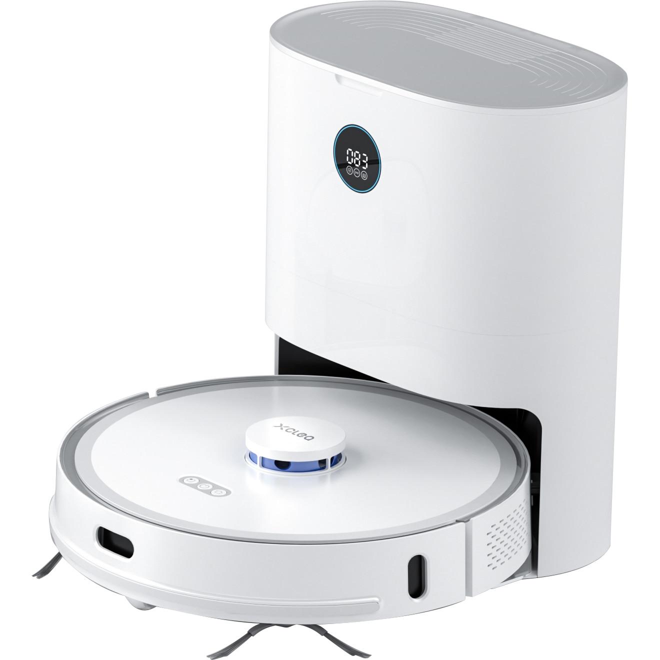 Fotografie Robot de aspirare Xclea H30 Plus, Mop , 50W, 5200 mAh, Putere de absorbtie 2700Pa, Colector praf 3l, Filtru Hepa, Alb