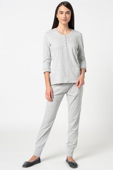 ESPRIT Bodywear, Jordyn pöttyös pizsama, Világosszürke