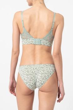 ESPRIT Bodywear, Dackota csipkés párnázott melltartó, Mentazöld/Fehér