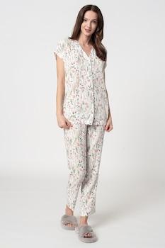 ESPRIT Bodywear, Armatha virágos pizsama, Fehér