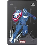 """HDD Extern Seagate Game Drive PS4, 2TB, 2.5"""", USB 3.0, editie speciala Marvel Avengers - Captain America"""